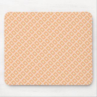 Rectángulo anaranjado/verde Mousepad