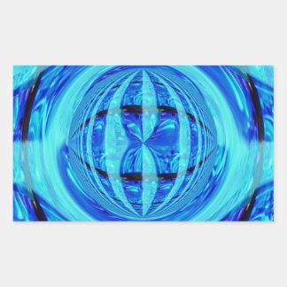Rectángulo azul del pegatina del orbe