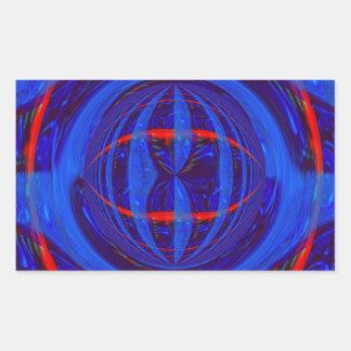 Rectángulo azul marino del pegatina del orbe