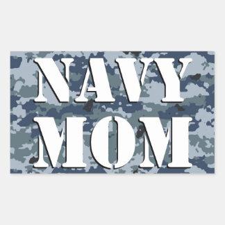 Rectángulo del camuflaje de la mamá de la marina pegatina rectangular