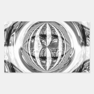 Rectángulo del pegatina del cromo del orbe