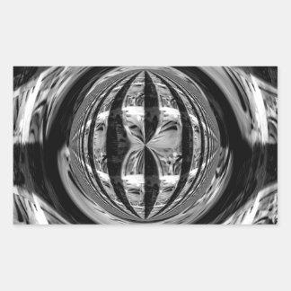 Rectángulo del pegatina del negro del cromo del