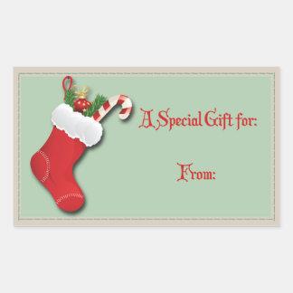 Rectángulo especial del regalo a/desde etiqueta