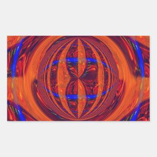 Rectángulo rojo del pegatina del orbe