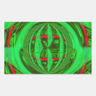 Rectángulo verde del pegatina del orbe