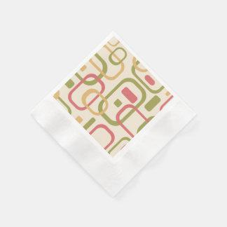 Rectángulos amarillos, verdes y rosados servilletas de papel