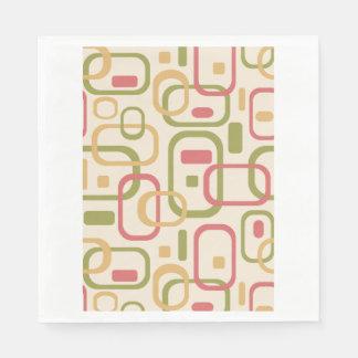 Rectángulos amarillos, verdes y rosados servilletas desechables