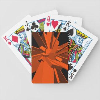 Rectángulos anaranjados barajas de cartas