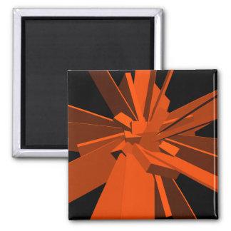 Rectángulos anaranjados iman para frigorífico