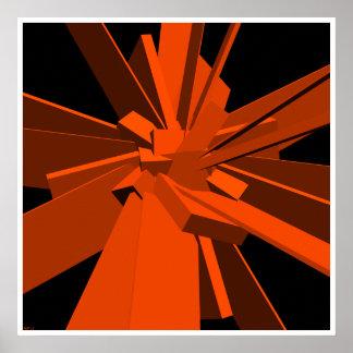 Rectángulos anaranjados posters