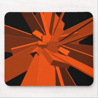 Rectángulos anaranjados tapete de ratón