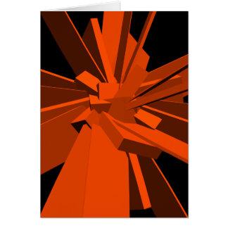 Rectángulos anaranjados tarjeta de felicitación