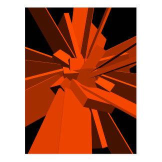Rectángulos anaranjados tarjeta postal