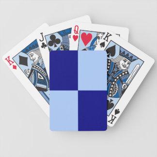 Rectángulos azules claros y azul marino baraja de cartas