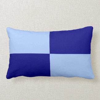 Rectángulos azules claros y azul marino cojín