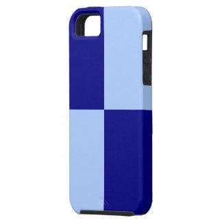 Rectángulos azules claros y azul marino iPhone 5 carcasa