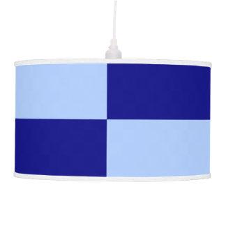 Rectángulos azules claros y azul marino lámpara de techo