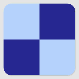 Rectángulos azules claros y azul marino calcomanías cuadradas personalizadas