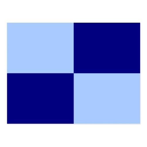 Rectángulos azules claros y azul marino postales