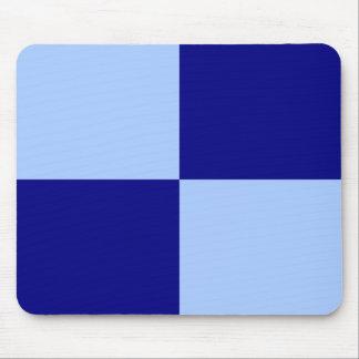 Rectángulos azules claros y azul marino tapetes de ratones