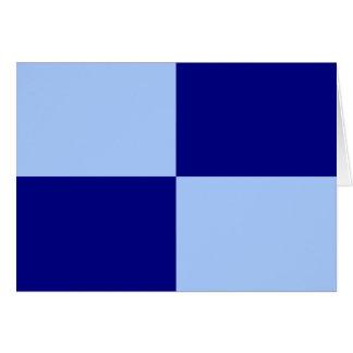 Rectángulos azules claros y azul marino felicitacion