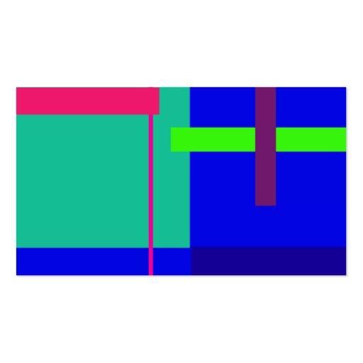Rectángulos azules tarjetas de visita