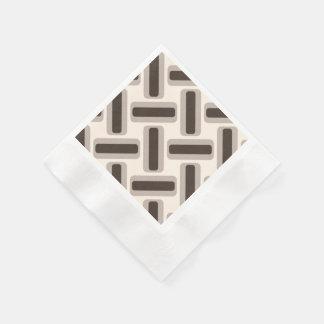 Rectángulos beige y marrones servilletas de papel