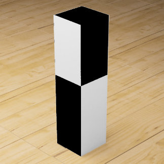 Rectángulos blancos y negros cajas para botellas de vino