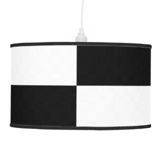 Rectángulos blancos y negros lámpara de techo