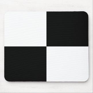 Rectángulos blancos y negros tapete de raton
