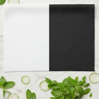 Rectángulos blancos y negros toalla de mano