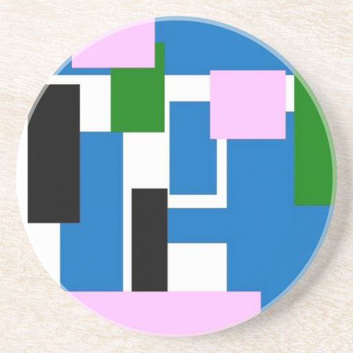 rectángulos coloridos azules posavasos personalizados