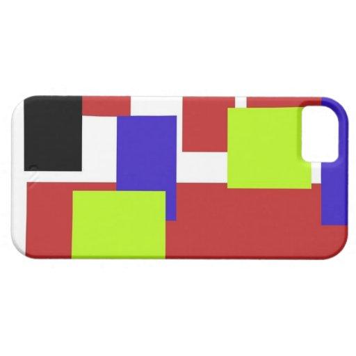 rectángulos coloridos rojos iPhone 5 Case-Mate cárcasa