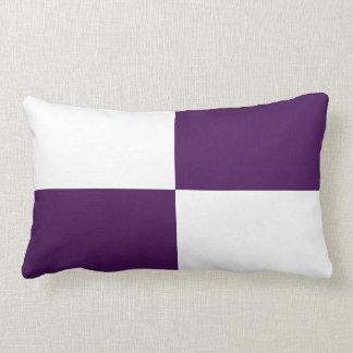 Rectángulos de la púrpura real y del blanco cojín