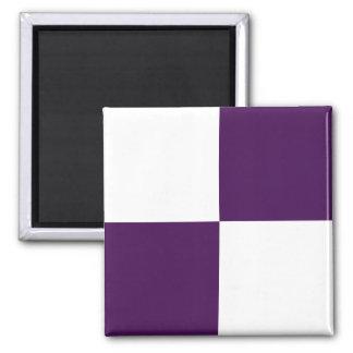 Rectángulos de la púrpura real y del blanco imán