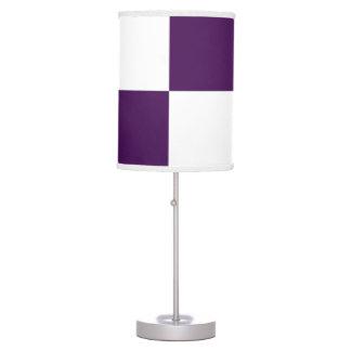 Rectángulos de la púrpura real y del blanco lámpara de mesa