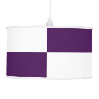 Rectángulos de la púrpura real y del blanco lámpara de techo
