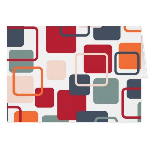 Rectángulos modernos 4 de Eames Felicitaciones