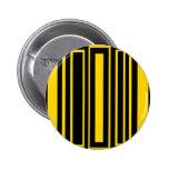 Rectángulos negros y amarillos enrrollados pins