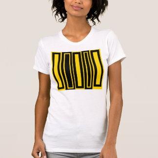 Rectángulos negros y amarillos enrrollados camisetas
