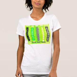 Rectángulos psicodélicos grises negros verdes de camisetas