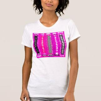 Rectángulos psicodélicos negros rosados retros camisetas