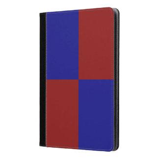 Rectángulos rojo oscuro y azules