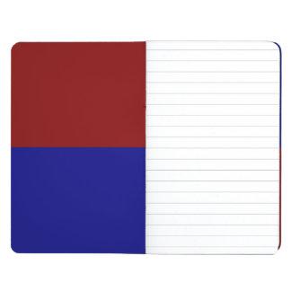 Rectángulos rojo oscuro y azules cuaderno