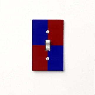 Rectángulos rojo oscuro y azules tapa para interruptor