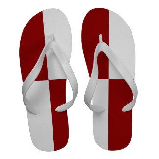 Rectángulos rojos y blancos chanclas de playa
