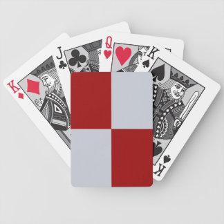 Rectángulos rojos y grises baraja