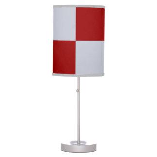 Rectángulos rojos y grises lámpara de mesa