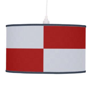 Rectángulos rojos y grises lámpara de techo