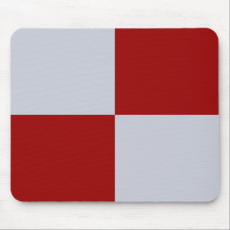 Rectángulos rojos y grises Mousepad Alfombrilla De Ratones